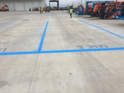 Newly Painted Parking Spaces for United Rental